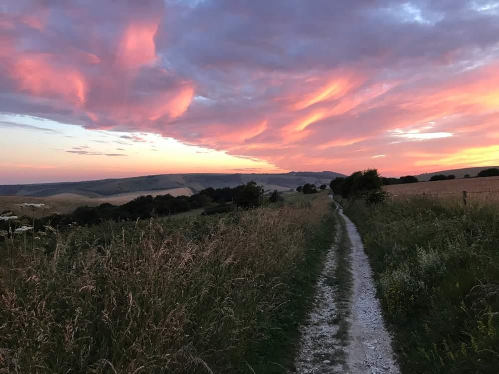 Little Pyecombe sunset